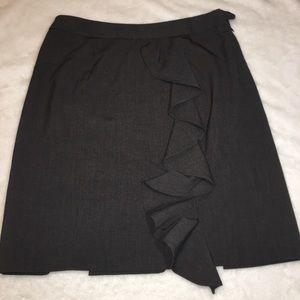 Adrienne Vittadini Black Ruffle Skirt Size 6